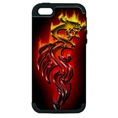 Dragon Fire Apple iPhone 5 Hardshell Case (PC+Silicone)