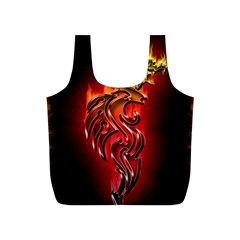 Dragon Fire Full Print Recycle Bags (S)