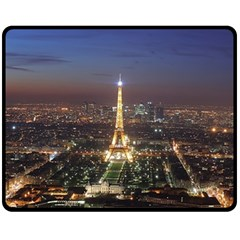 Paris At Night Fleece Blanket (Medium)