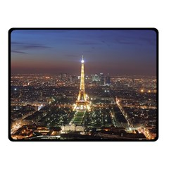 Paris At Night Double Sided Fleece Blanket (Small)