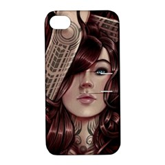 Beautiful Women Fantasy Art Apple iPhone 4/4S Hardshell Case with Stand