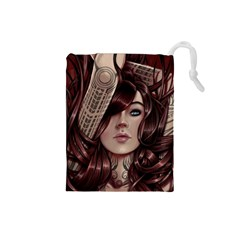 Beautiful Women Fantasy Art Drawstring Pouches (Small)