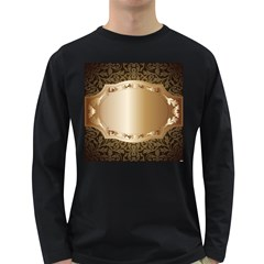 Floral Long Sleeve Dark T-Shirts