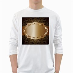 Floral White Long Sleeve T-Shirts