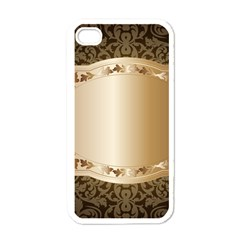 Floral Apple iPhone 4 Case (White)