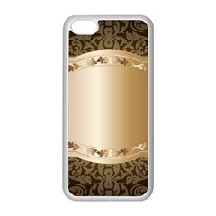 Floral Apple iPhone 5C Seamless Case (White)