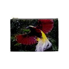 Cendrawasih Beautiful Bird Of Paradise Cosmetic Bag (Medium)