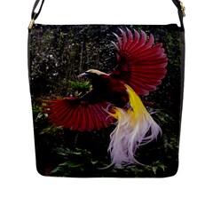 Cendrawasih Beautiful Bird Of Paradise Flap Messenger Bag (L)