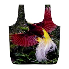 Cendrawasih Beautiful Bird Of Paradise Full Print Recycle Bags (L)