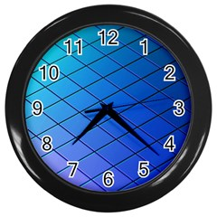 Blue Pattern Plain Cartoon Wall Clocks (Black)