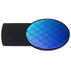 Blue Pattern Plain Cartoon USB Flash Drive Oval (2 GB)