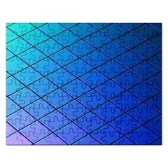 Blue Pattern Plain Cartoon Rectangular Jigsaw Puzzl