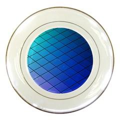 Blue Pattern Plain Cartoon Porcelain Plates