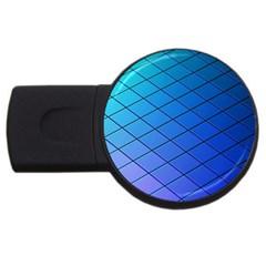 Blue Pattern Plain Cartoon USB Flash Drive Round (4 GB)