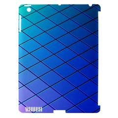 Blue Pattern Plain Cartoon Apple iPad 3/4 Hardshell Case (Compatible with Smart Cover)