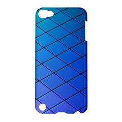 Blue Pattern Plain Cartoon Apple iPod Touch 5 Hardshell Case