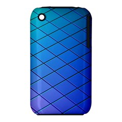 Blue Pattern Plain Cartoon iPhone 3S/3GS