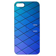 Blue Pattern Plain Cartoon Apple iPhone 5 Hardshell Case with Stand