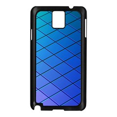 Blue Pattern Plain Cartoon Samsung Galaxy Note 3 N9005 Case (Black)