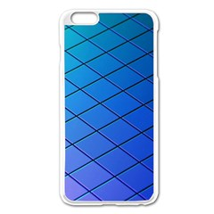 Blue Pattern Plain Cartoon Apple iPhone 6 Plus/6S Plus Enamel White Case
