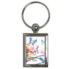 Butterfly Vector Art Key Chains (Rectangle)