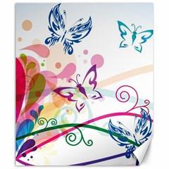 Butterfly Vector Art Canvas 20  x 24