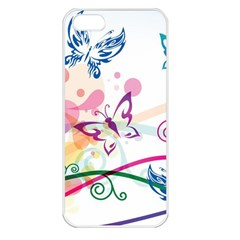 Butterfly Vector Art Apple iPhone 5 Seamless Case (White)