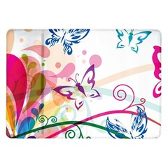 Butterfly Vector Art Samsung Galaxy Tab 10.1  P7500 Flip Case
