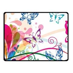 Butterfly Vector Art Double Sided Fleece Blanket (Small)