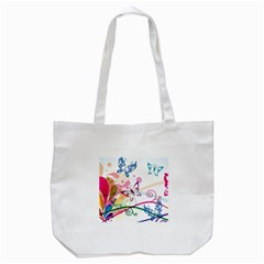 Butterfly Vector Art Tote Bag (White)