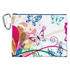 Butterfly Vector Art Canvas Cosmetic Bag (XXL)