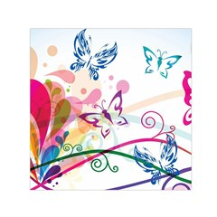 Butterfly Vector Art Small Satin Scarf (Square)