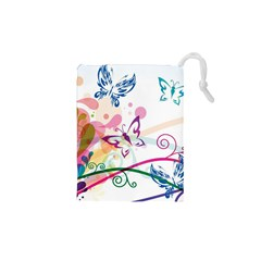 Butterfly Vector Art Drawstring Pouches (XS)