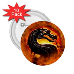 Dragon And Fire 2.25  Buttons (10 pack)