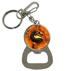 Dragon And Fire Button Necklaces