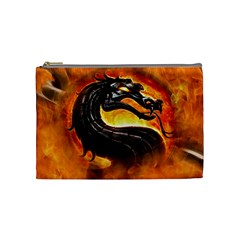 Dragon And Fire Cosmetic Bag (Medium)