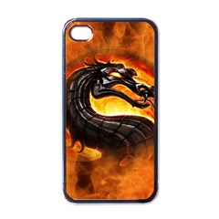Dragon And Fire Apple iPhone 4 Case (Black)