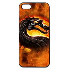 Dragon And Fire Apple iPhone 5 Seamless Case (Black)