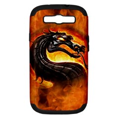 Dragon And Fire Samsung Galaxy S III Hardshell Case (PC+Silicone)