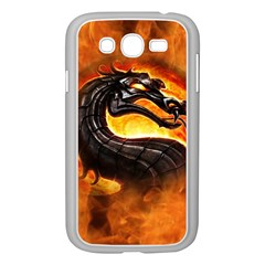 Dragon And Fire Samsung Galaxy Grand DUOS I9082 Case (White)
