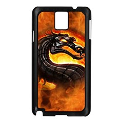 Dragon And Fire Samsung Galaxy Note 3 N9005 Case (Black)