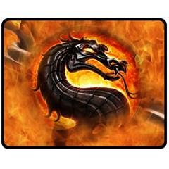 Dragon And Fire Double Sided Fleece Blanket (Medium)