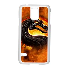 Dragon And Fire Samsung Galaxy S5 Case (White)