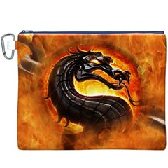 Dragon And Fire Canvas Cosmetic Bag (XXXL)