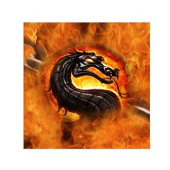 Dragon And Fire Small Satin Scarf (Square)