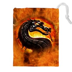 Dragon And Fire Drawstring Pouches (XXL)
