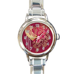Love Heart Round Italian Charm Watch