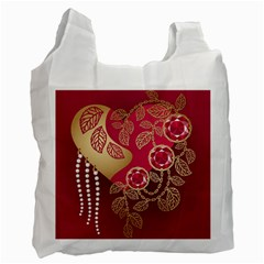 Love Heart Recycle Bag (One Side)