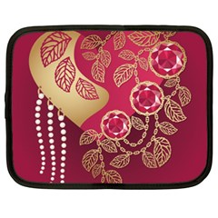 Love Heart Netbook Case (XXL)