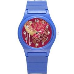 Love Heart Round Plastic Sport Watch (S)